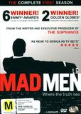 Mad Men - The Complete 1st Season (3 Disc Set) on DVD