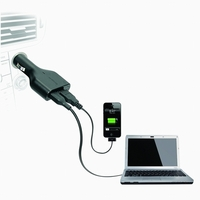 Targus Laptop Car Charger + with USB Fast Charger image