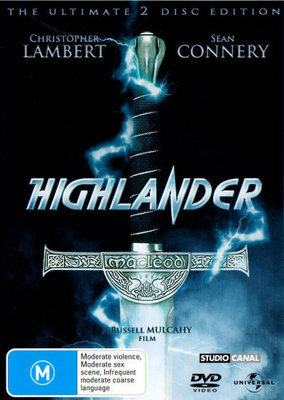 Highlander - The Ultimate 2 Disc Edition (2 Disc Set) on DVD image