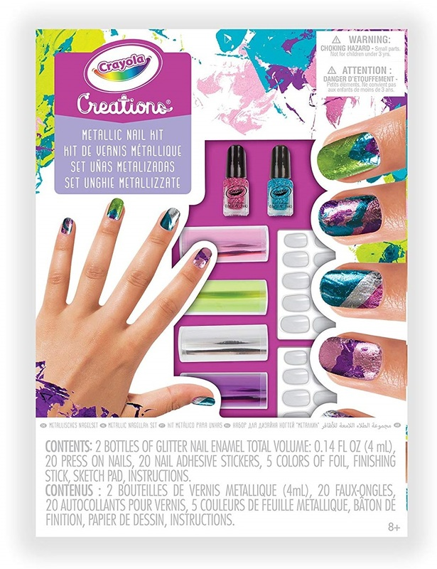 Crayola Creations Metallic Nail Design Kit Toy At Mighty Ape Australia