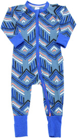 Bonds Zip Wondersuit Long Sleeve - Surf Tribe (12-18 Months)