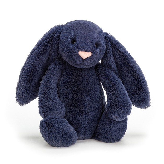 Jellycat: Bashful Navy Bunny - Medium Plush