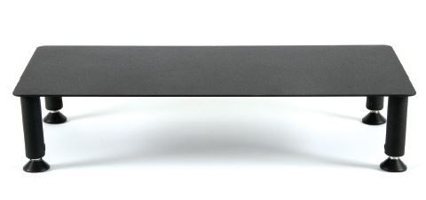 Fluteline Large Low Monitor Stand Metal - Black