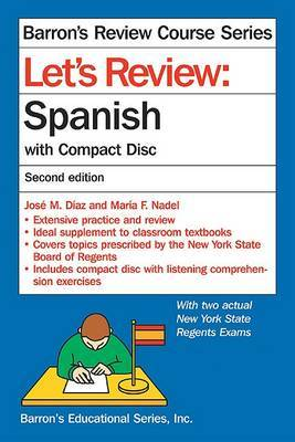 Lets Review Spanish with CD 2nd Ed by J. Diaz image