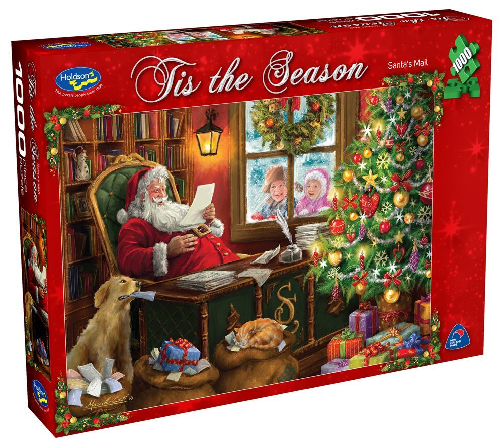 Van Haasteren: Christmas Times Santa's Mail - 1000 Piece Puzzle image