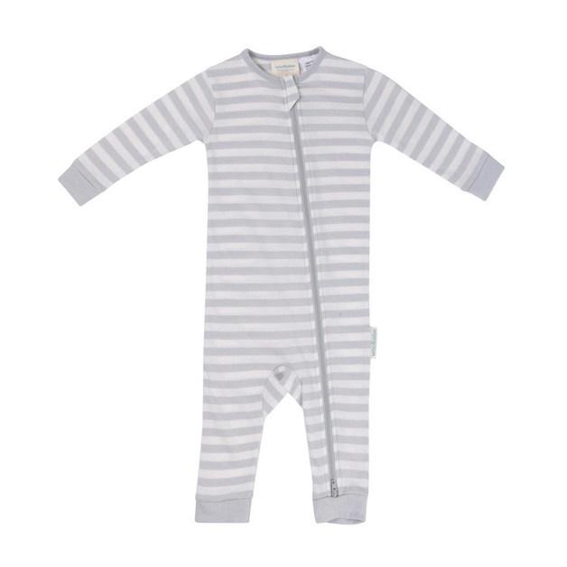 Woolbabe Merino/Organic Cotton PJ Suit Pebble (3-6 Months)