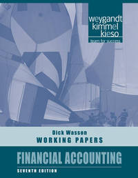 Financial Accounting: Working Papers by Jerry J. Weygandt image