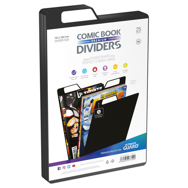Ultimate Guard: Premium Comic Dividers - Black (25-Pack)