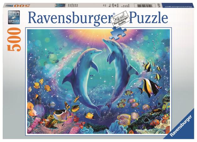 Ravensburger: 500 Piece Puzzle - Dancing Dolphins