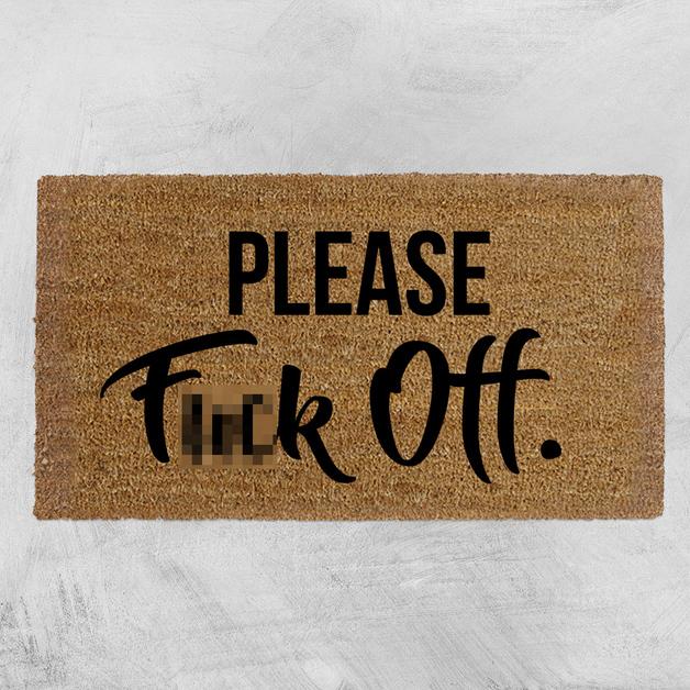 Natural Fibre Doormat - Please F*ck Off