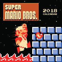 Super Mario Bros: Retro Art from the Original Game 2018 Wall Calendar by Nintendo USA