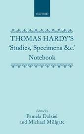Thomas Hardy's 'Studies, Specimens &c.' Notebook by Thomas Hardy image