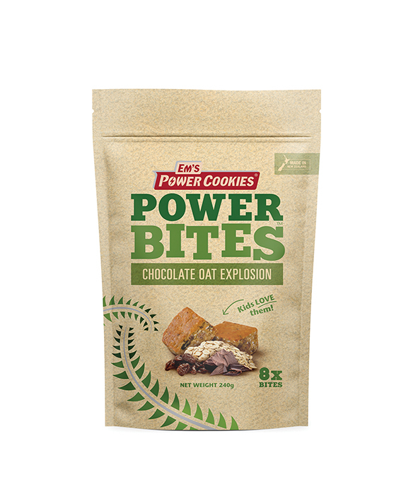 Em's Power Bites Pouch - Chocolate Oat Explosion Multi Pack (8 Pack)