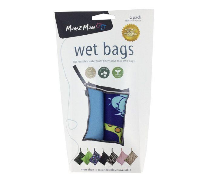 Mum 2 Mum: Wet Bag - Animals / Sky Blue (2 Pack) image