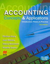 Accounting Concepts and Applications: Introductory Theory and Practice by Phillipa Greg image