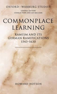Commonplace Learning by Howard Hotson image