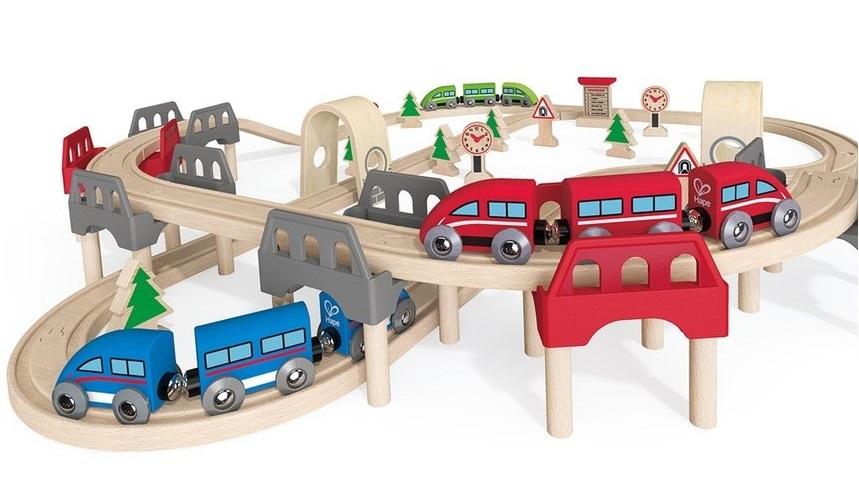 Hape: High & Low - Railway Set image