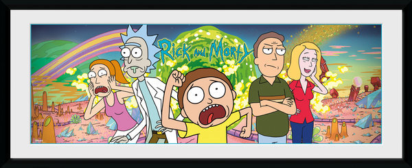 Rick and Morty: Group - Framed Print