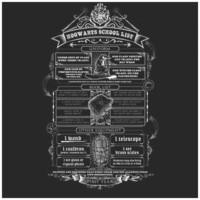 Harry Potter: School List - Roll T-Shirt (Large) image
