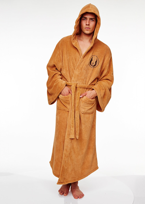 Star Wars: Jedi Fleece Hooded Robe - Brown Men's (One Size)