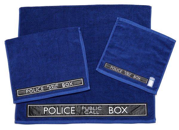 Doctor Who TARDIS Bath Towel Set