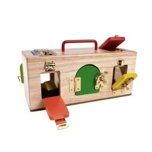 original lock activity box toy at mighty ape nz. Black Bedroom Furniture Sets. Home Design Ideas