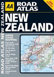 AA Road Atlas New Zealand by AA Publishing image