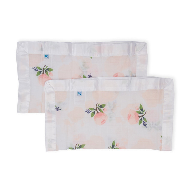 Little Unicorn - Cotton Muslin Security Blanket - Watercolor Rose (2 Pack)