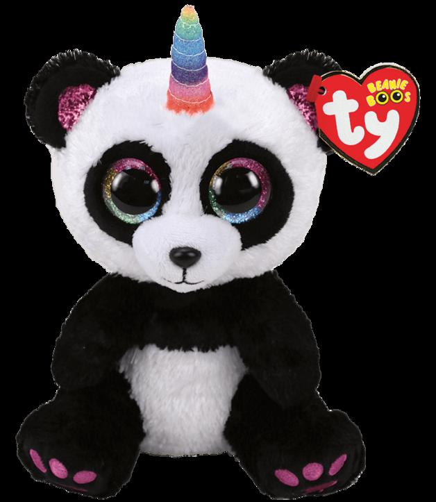 Ty Beanie Boo: Paris Panda - Medium Plush