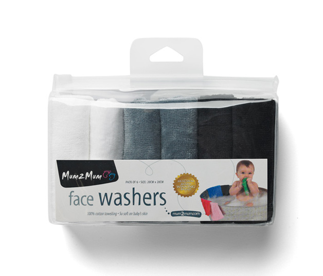 Mum 2 mum: Face Washers - Marble