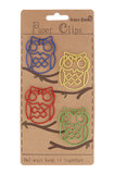 Owl Paperclips - Assorted Colours (4pk)