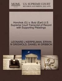 Honchok (G.) V. Butz (Earl) U.S. Supreme Court Transcript of Record with Supporting Pleadings by Leonard J Kerpelman