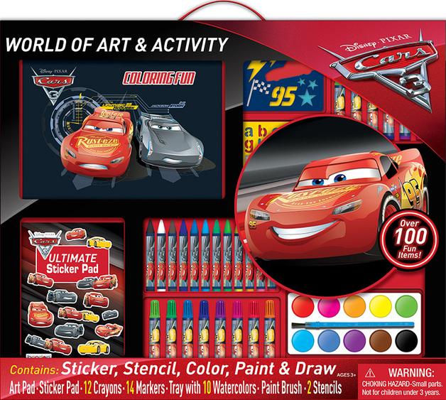 Disney Cars 3 - World of Art & Activity Set
