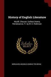 History of English Literature by Bernhard Aegidius Konrad ten Brink image