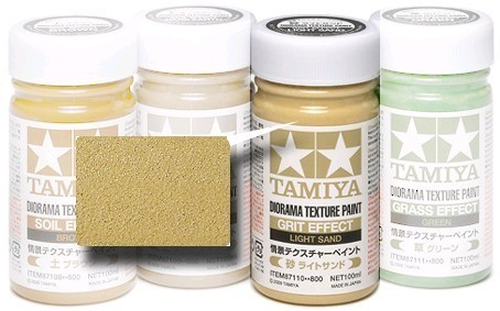 Tamiya Diorama Texture Paint 100ml Light Sand Grit Effect at