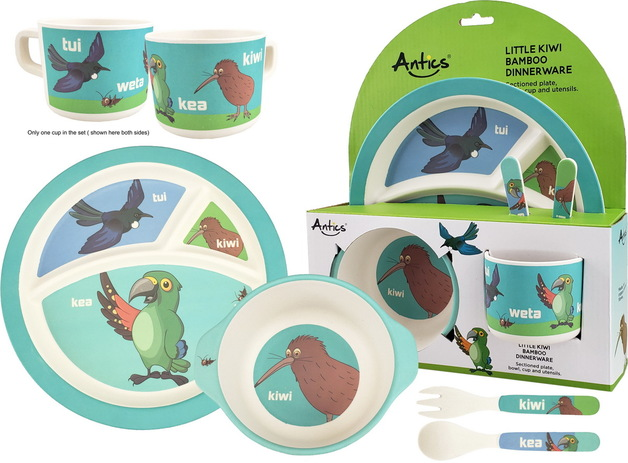 Bamboo Mealtime Set - Little Kiwi