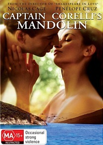 Captain Corelli's Mandolin on DVD image