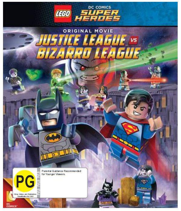 Lego Batman: Justice League vs Bizarro League on Blu-ray