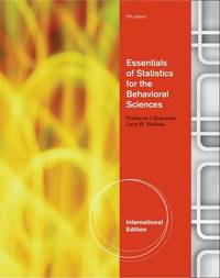 Essentials of Statistics for the Behavioral Science by Frederick J Gravetter