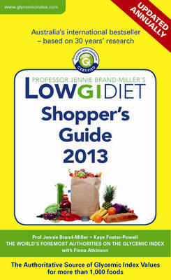 Low GI Diet Shopper's Guide 2013 by Dr Jennie Brand-Miller image