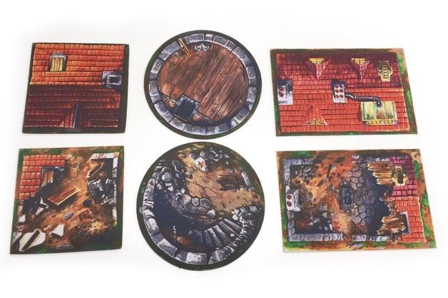 Muse on Minis: Buildings & Rubble - 2D Terrain Tiles