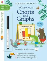 Wipe-Clean Charts & Graphs 6-7 by Holly Bathie