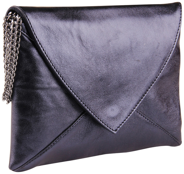 Clairefontaine: Cuirise Leather Smeralda Shoulder Bag - Petrol Blue