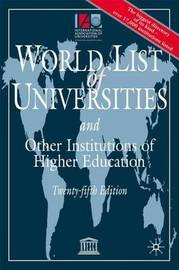 The World List of Universities and Other Institutions of Higher Education by International Association of Universities image