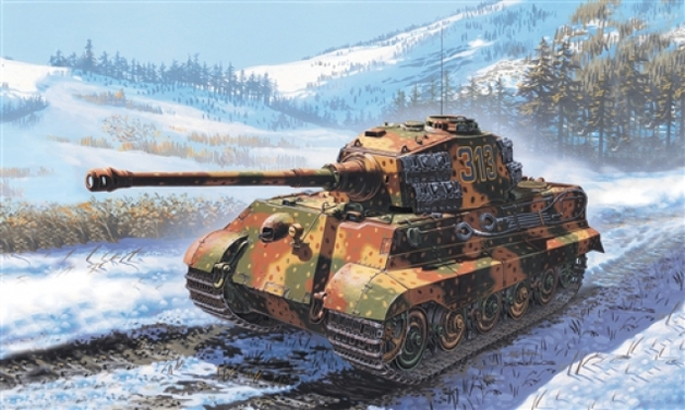 Italeri: 1/72 German King Tiger - Model Kit