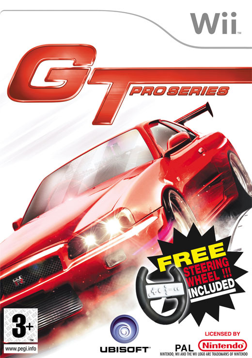 GT Pro Series + Steering Wheel Control for Nintendo Wii