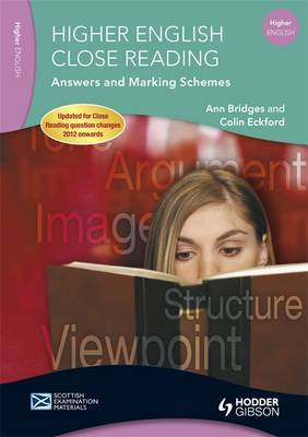 Higher English Close Reading Answers and Marking Schemes by Ann Bridges image