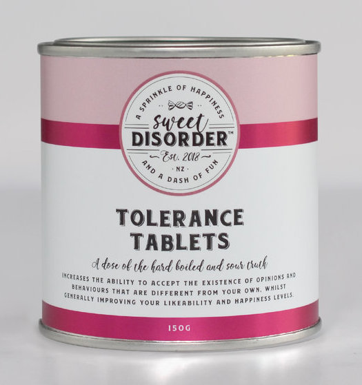 Sweet Disorder: Tolerance Tablets (150g)