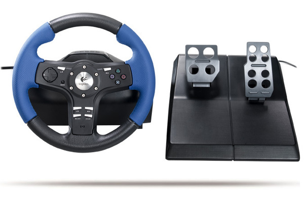 Logitech Driving Force EX Steering Wheel for PlayStation 2