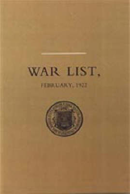 University of Dublin War List 1922: Trinity College by M.W.J. Fry